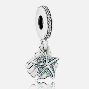 Pandora starfish and shells dangle charm.